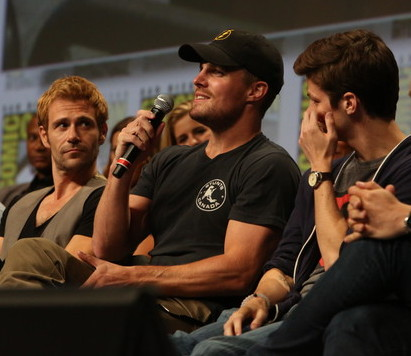 Stephen+Amell+Grant+Gustin+Warner+Bros+Comic Con