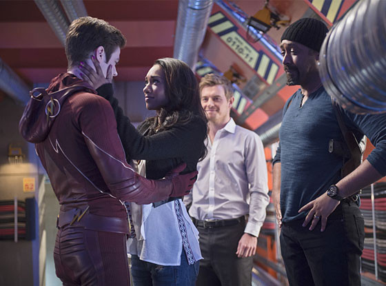 the-flash-fast-enough-Barry, Iris, Eddie and Joe