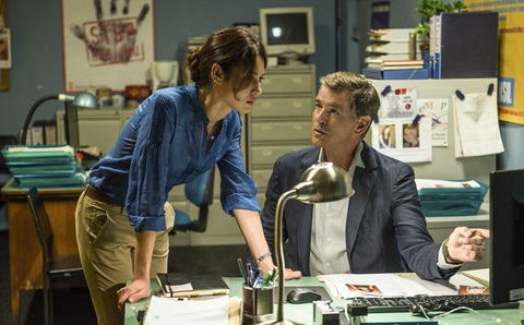 The November Man - Olga Kurylenko and Pierce Brosnan