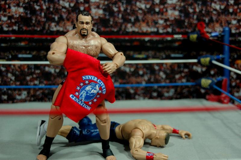 WWE Elite 34 Rusev review pics - Rusev makes Cena quit