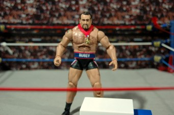 WWE Elite 34 Rusev review pics - Rusev with accessories
