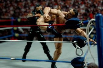 WWE Elite 34 Rusev review pics - savat kick Reigns 1