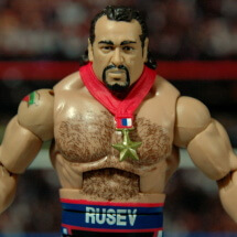 WWE Elite 34 Rusev review pics - wide shot