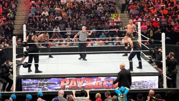 WWE Payback - main event Fatal Four Way