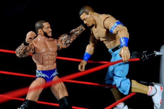 Randy Orton Mattel WWE Elite 35 -setting Cena up for superplex