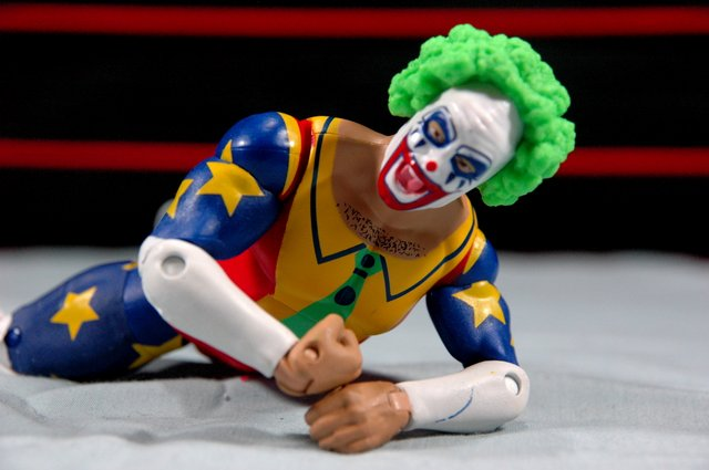 Doink the Clown WWE Mattel figure review - crawling Doink
