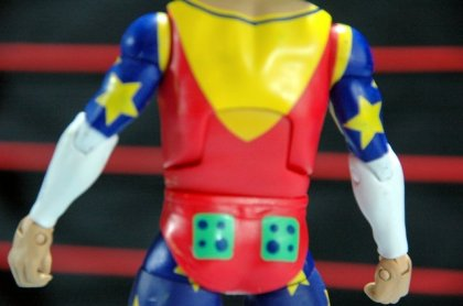 Doink the Clown WWE Mattel figure review - figure rear