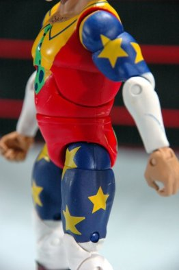 Doink the Clown WWE Mattel figure review - left side details