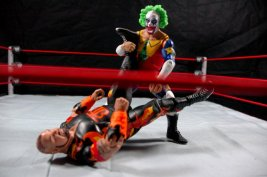 Doink the Clown WWE Mattel figure review - stump puller