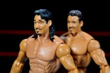Eddie Guerrero Hall of Fame figure review -close up of two Eddie Guerreros