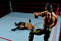 Eddie Guerrero Hall of Fame figure review -setting up frog splash