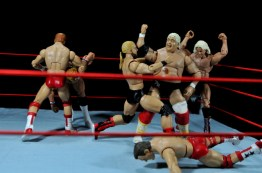 Four Horsemen figure review - Four Horsemen vs Lex Luger and Dusty Rhodes