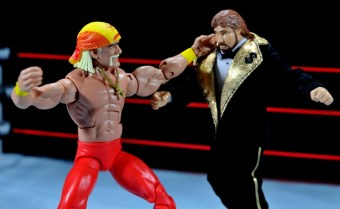 Hulk Hogan Hall of Fame figure -fighting Ted DiBiase