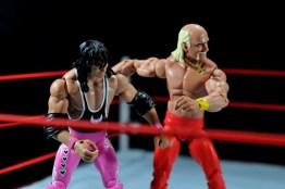 Hulk Hogan Hall of Fame figure -helping Bret Hart