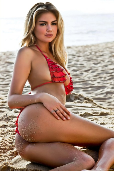 kate-upton-red bikini