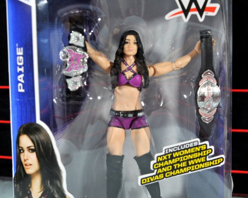 Paige WWE Mattel figure -front package detail