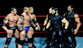 Randy Orton Mattel WWE Elite 35 -Evolution facing off with The Shield