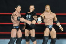 Randy Orton Mattel WWE Elite 35 -Evolution mocks Shield