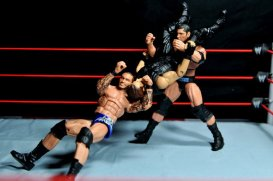 Randy Orton Mattel WWE Elite 35 -RKO and Batista Bomb combo