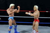 Ric Flair Defining Moments figure review - against custom Ronnie Garvin