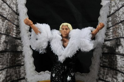 Ric Flair Defining Moments figure review - arms up on package