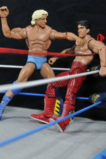 Ric Flair Defining Moments figure review - chopping The Dragon