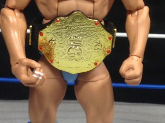 Ric Flair Defining Moments figure review - close up of title