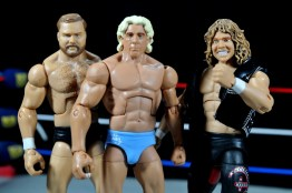 Ric Flair Defining Moments figure review - late 90s Horsemen - Arn, Flair and Flyin Brian
