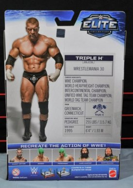 Triple H WWE Mattel Elite 35 - rear package