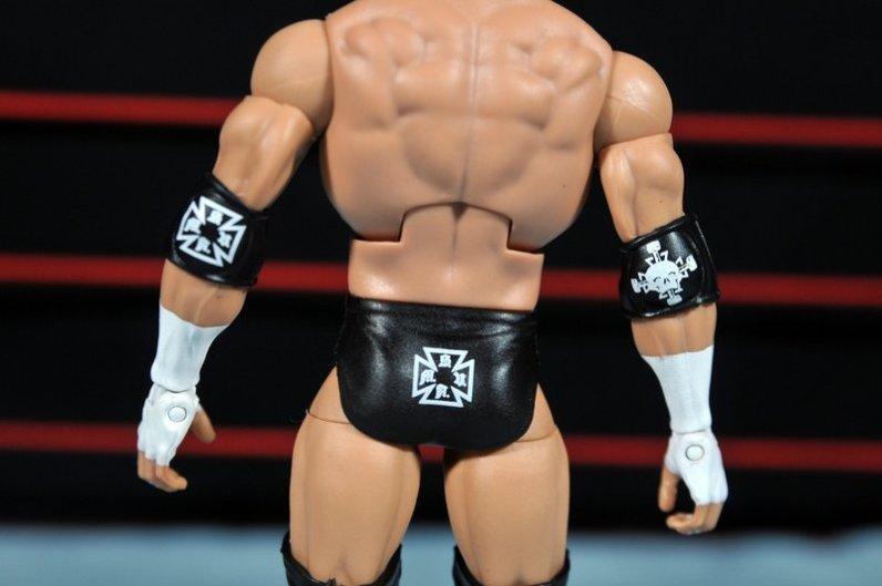 Triple H WWE Mattel Elite 35 - tight back detail