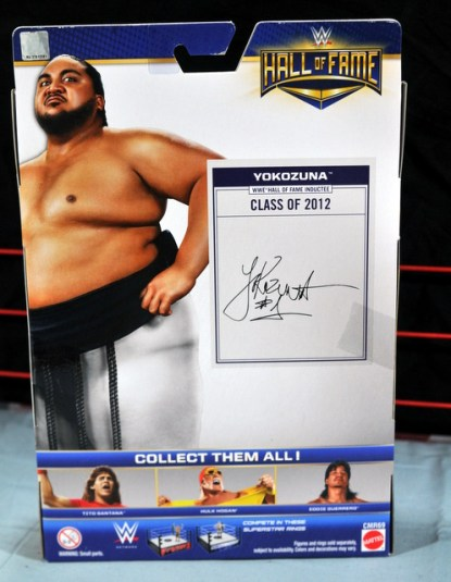 Yokozuna figure review Hall of Fame - package rear