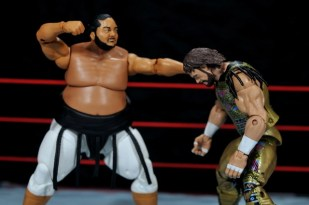 Yokozuna figure review Hall of Fame - punching Macho Man