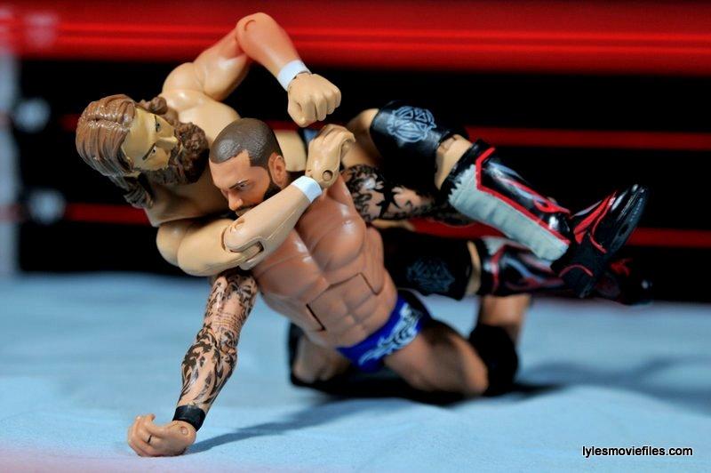 Daniel Bryan Mattel figure review -putting Yes Lock on Orton