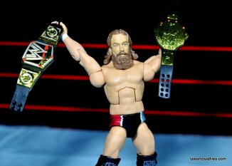 Daniel Bryan Mattel figure review - raising both belts