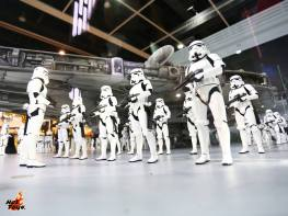 Hot Toys Stormtrooper army and Millennium Falcon