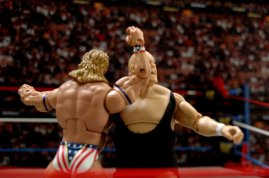 Lex Luger WWE Mattel Elite 30 figure -forearm smash to King Kong Bundy