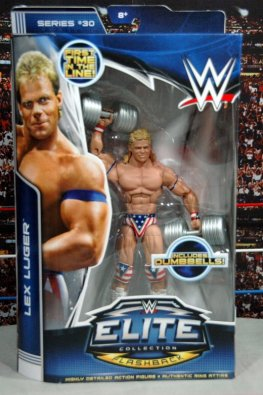 Lex Luger WWE Mattel Elite 30 figure - front package