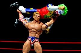 Lex Luger WWE Mattel Elite 30 figure -press slam Doink the Clown