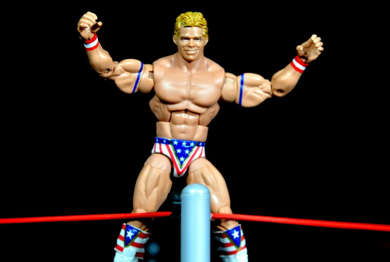 Lex Luger WWE Mattel Elite 30 figure - standing on turnbuckle