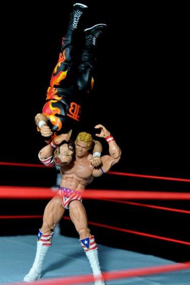 Lex Luger WWE Mattel Elite 30 figure -suplex Bam Bam Bigelow