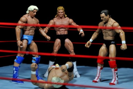 Lex Luger WWE Mattel Elite 30 figure - with Ric Flair, Tully Blanchard over Dusty Rhodes