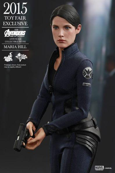 Maria Hill Avengers Age of Ultron Hot Toys figure -clutching gun