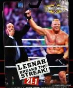 Mattel Brock Lesnar WWE figure - back portrait