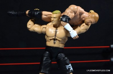 Mattel Brock Lesnar WWE figure - F5 on Triple H