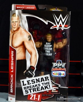 Mattel Brock Lesnar WWE figure - front package.