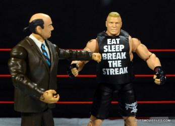 Mattel Brock Lesnar WWE figure - Paul Heyman reads off shirt