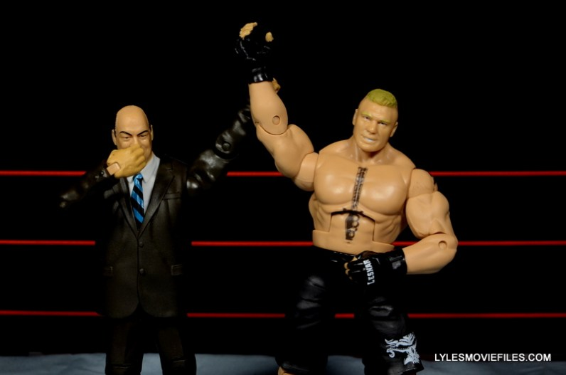 Mattel Brock Lesnar WWE figure - Paul Heyman shocked