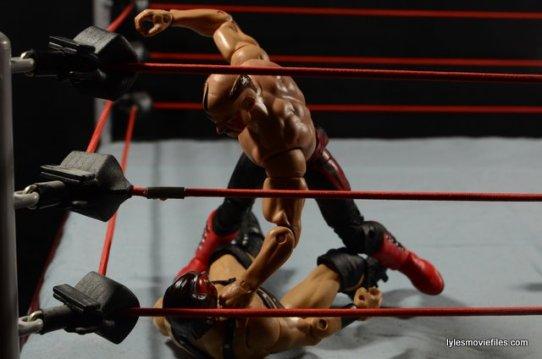 Mattel WWE Elite 30 Legion of Doom - Hawk beating down Ax