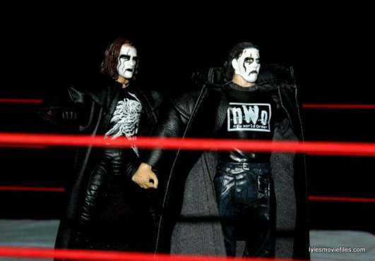 Sting figure WWE Mattel Defining Moments - about to grab nWo Sting