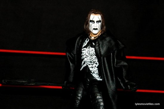 Sting figure WWE Mattel Defining Moments - holding bat closeup